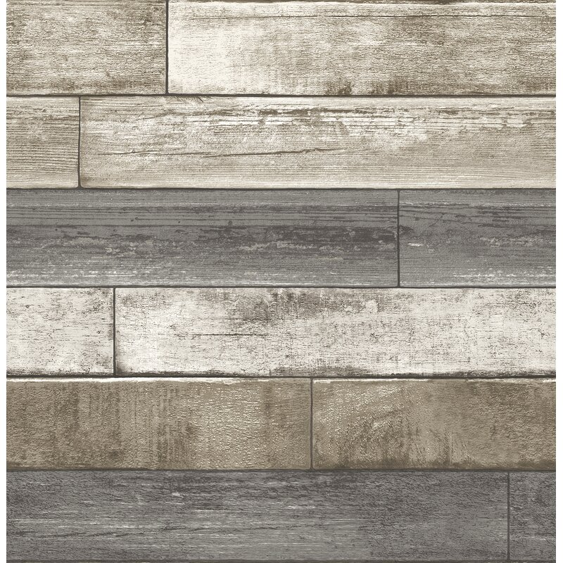 """Brewster Home Fashions Weathered Plank 2' x 20.5"""" Wallpaper"""