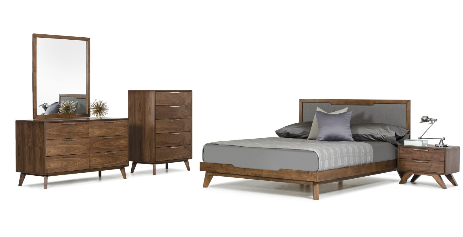 walnut bedroom set. Hali Platform 5 Piece Bedroom Set Walnut Sets You ll Love  Wayfair