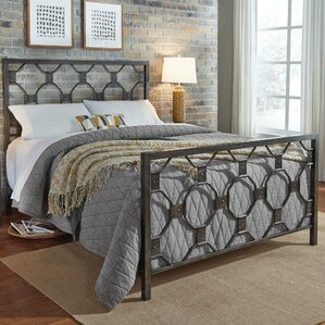 Leavitt Metal Panel Bed by Alcott Hill