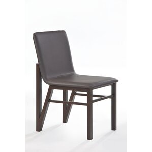 Cafe Genuine Leather Upholstered Dining Chair (Set of 2) by New Spec Inc