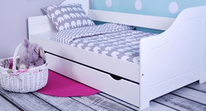 Kinderbett Eva Mit Matratze Und Schublade 80 X 160 Cm
