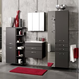 Badezimmer-Set Livorno mit beleuchtetem Spiegel von Held Möbel