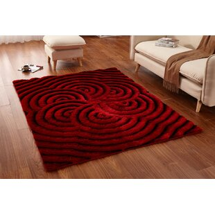 Barrera Red Black Area Rug Wayfair