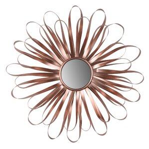 sunburst rose gold wall mirror