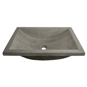 Cabrillo Stone Rectangular Undermount Bathroom Sink