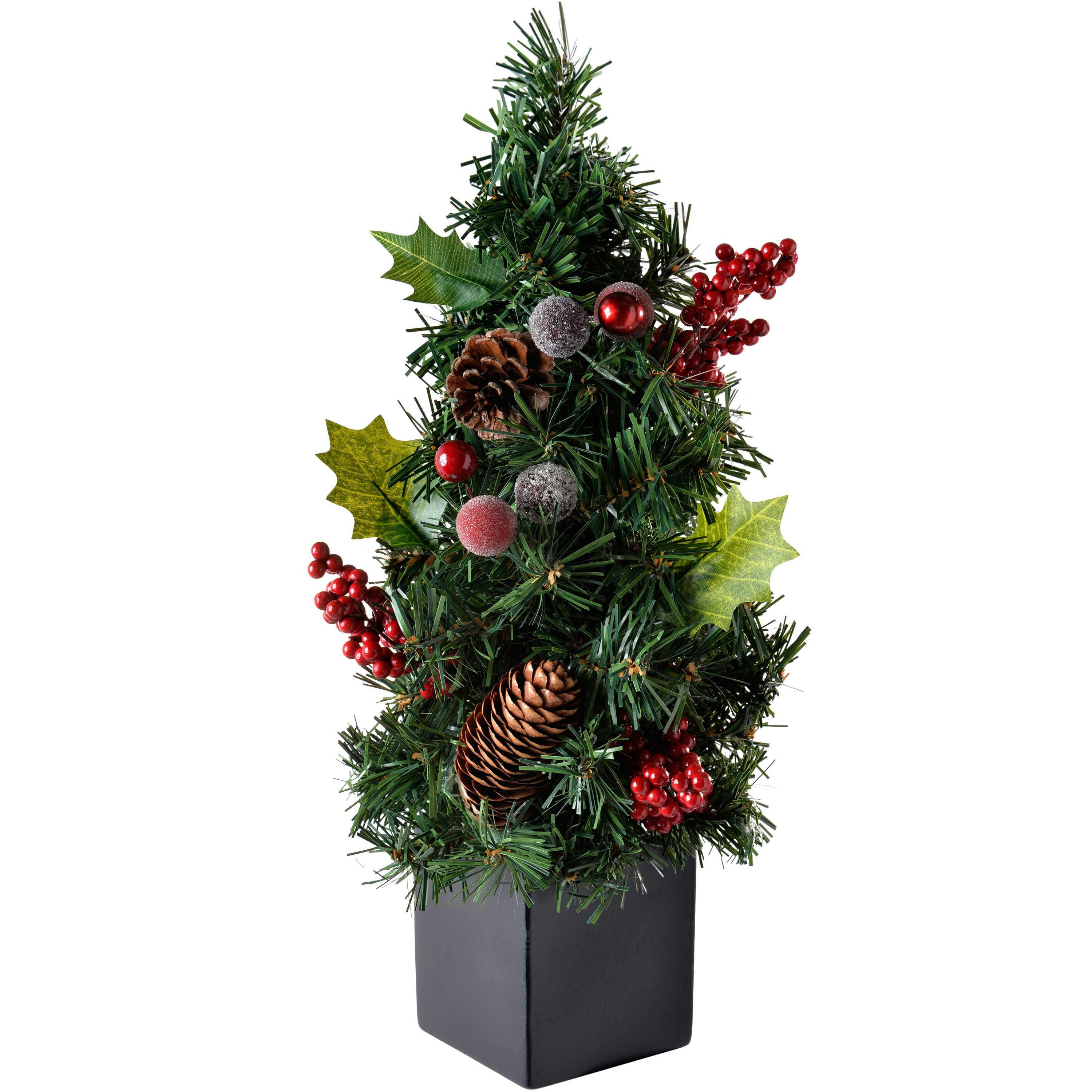 The Seasonal Aisle Natural Cone And 1ft Green Pine Artificial