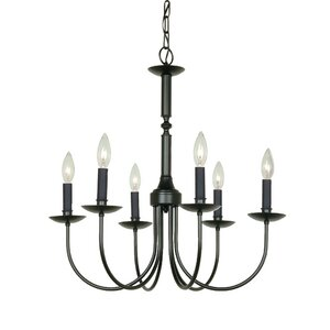 Souders 6-Light Candle-Style Metal Chandelier