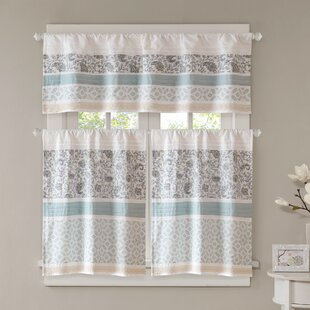 chambery printed and pieced rod pocket kitchen curtains - Kitchen Curtain