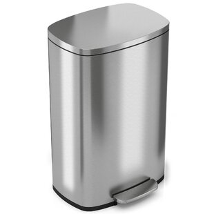 Soft Step Stainless Steel Kitchen 13.2 Gallon Step On Trash Can