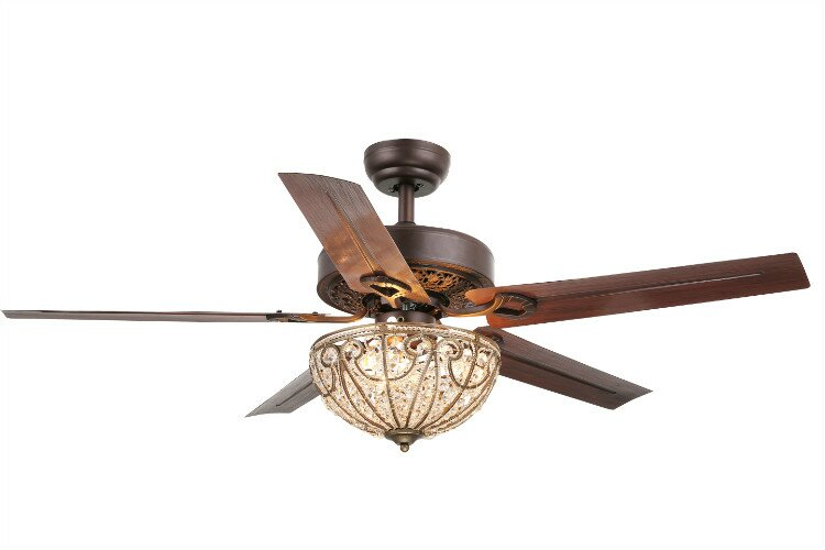 Aspen 5 blade crystal light ceiling fan reviews joss main aspen 5 blade crystal light ceiling fan aloadofball Image collections