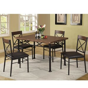Tiarra 5 Piece Dining Set by Red Barrel Studio
