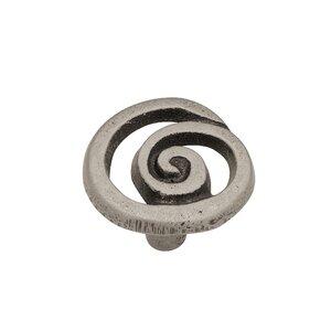 Decorative Single Swirl Novelty Knob