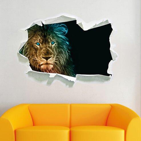 Pixxprint Wandtattoo Lowe Natur Afrika Wayfair De