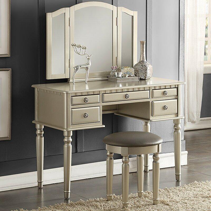 Ordinary Vanity And Mirror Set Part - 1: Diana Vanity Set With Mirror