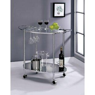 Moravian 2 Shelf Metal Bar Cart