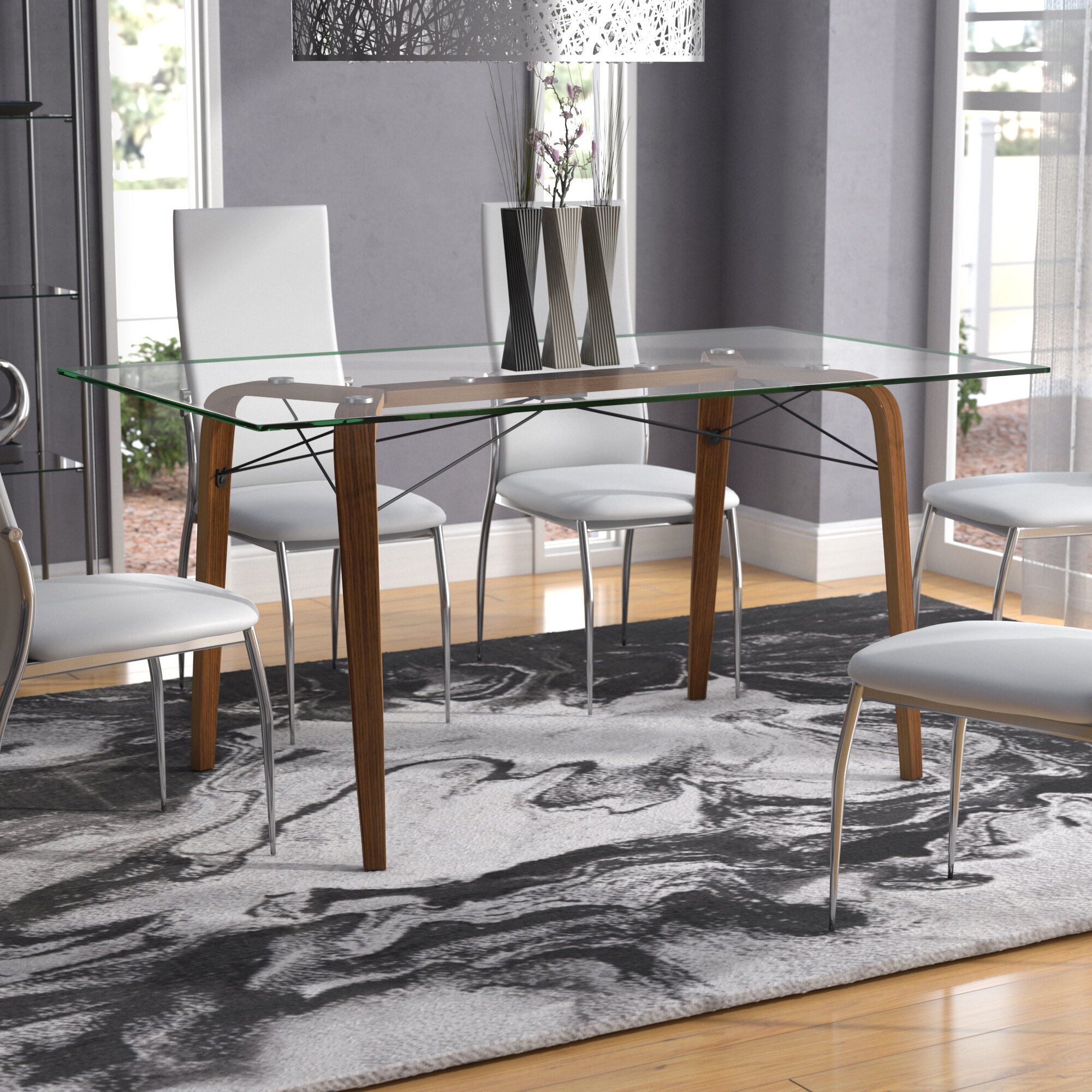 Langley Street Wexford Square Mid Century Modern Dining Table & Reviews