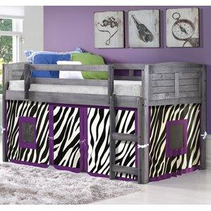 Zebra Twin Low Loft Bed by Donco Kids