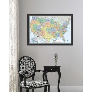 United States Map Picture Frame.United States Map Wall Art Wayfair