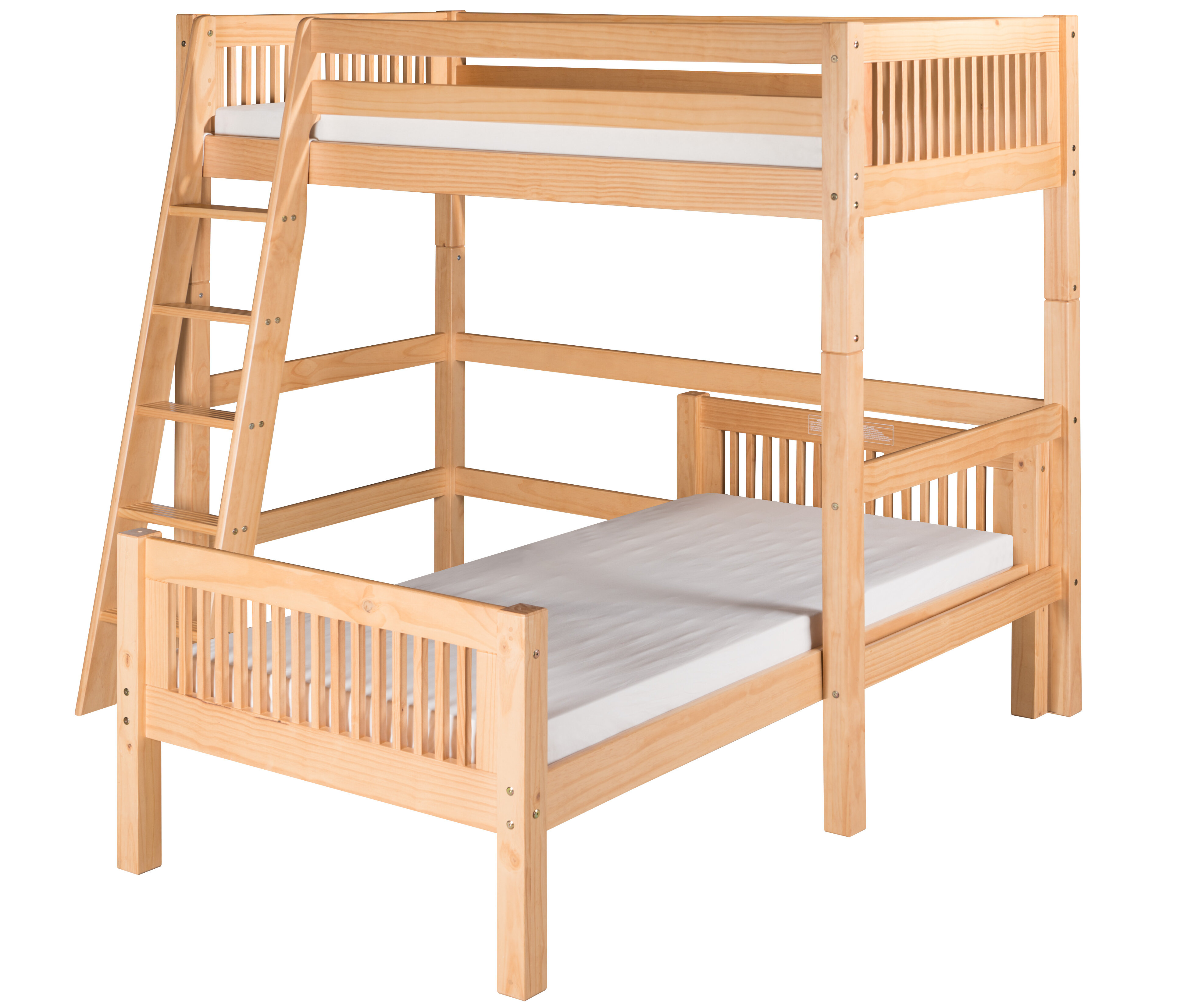 Harriet Bee Oakwood Twin Over Twin L Shape Bunk Bed Wayfair