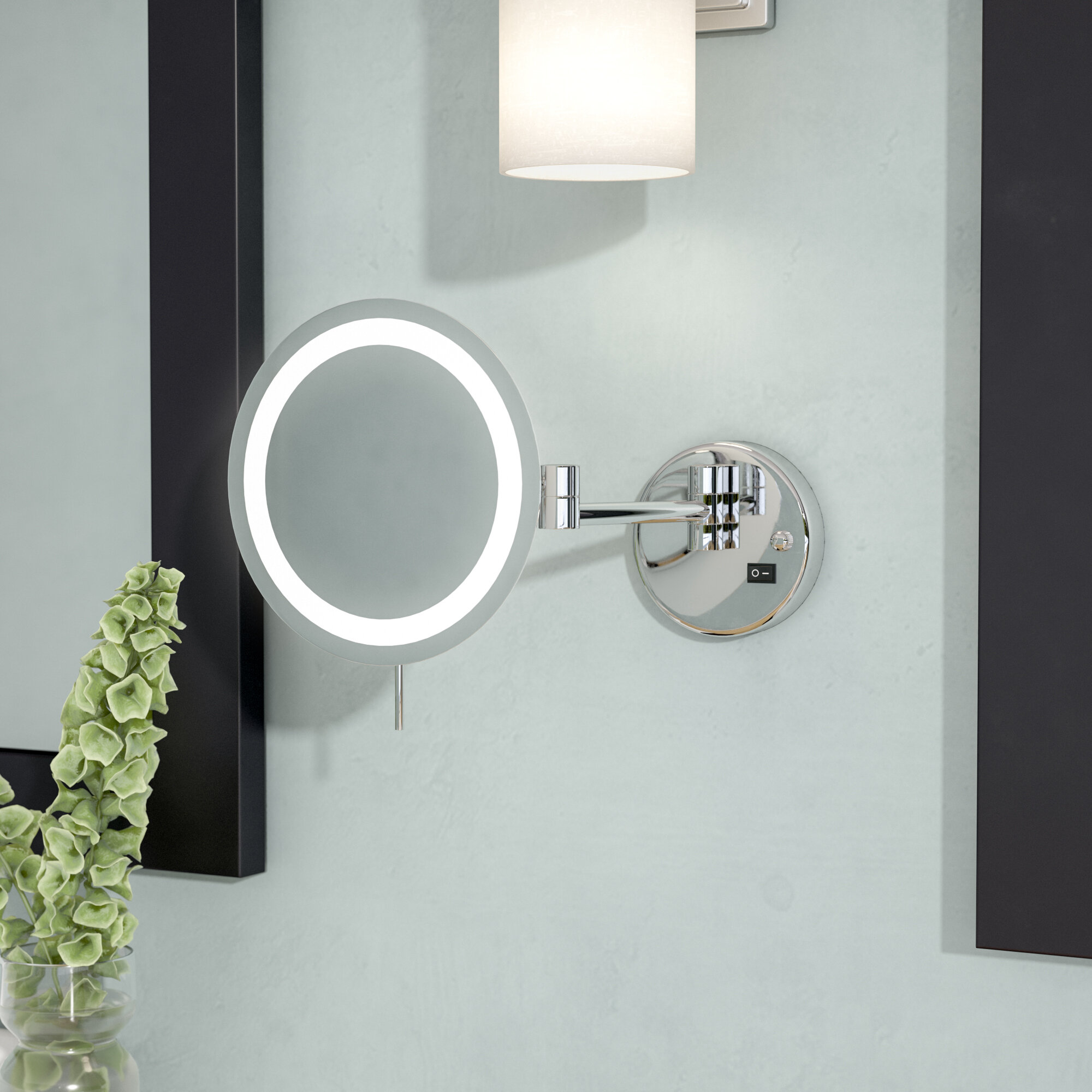 Symple Stuff LED 8x Magnifying Wall Mount Makeup Mirror & Reviews ...
