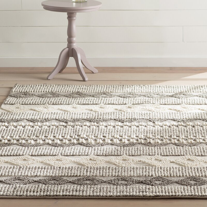 Billie Hand Tufted Gray Ivory Area Rug