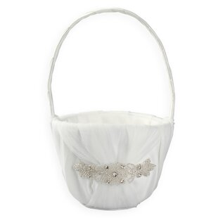 Ivory flower girl basket wayfair sonya flower girl basket mightylinksfo