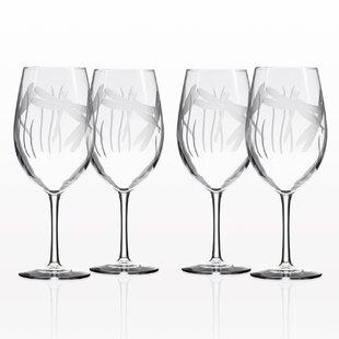 8e70e7a37ad Dragonfly Wine Glasses | Wayfair
