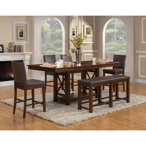 Wayland 6 Piece Dining Set by Loon Peak
