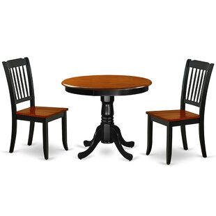 Kwiatkowski 3 Piece Solid Wood Dining Set