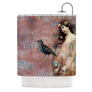 Faith Hope Love By Suzanne Carter Typography Shower Curtain