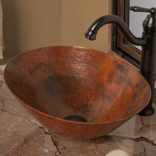 Quickview. Novatto. Bilboa Metal Oval Vessel Bathroom Sink