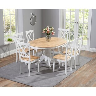 Bartett Extendable Dining Set with 6 Chairs by Breakwater Bay