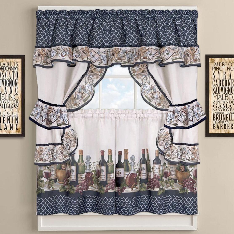 Cau Wines Cottage Kitchen Curtains