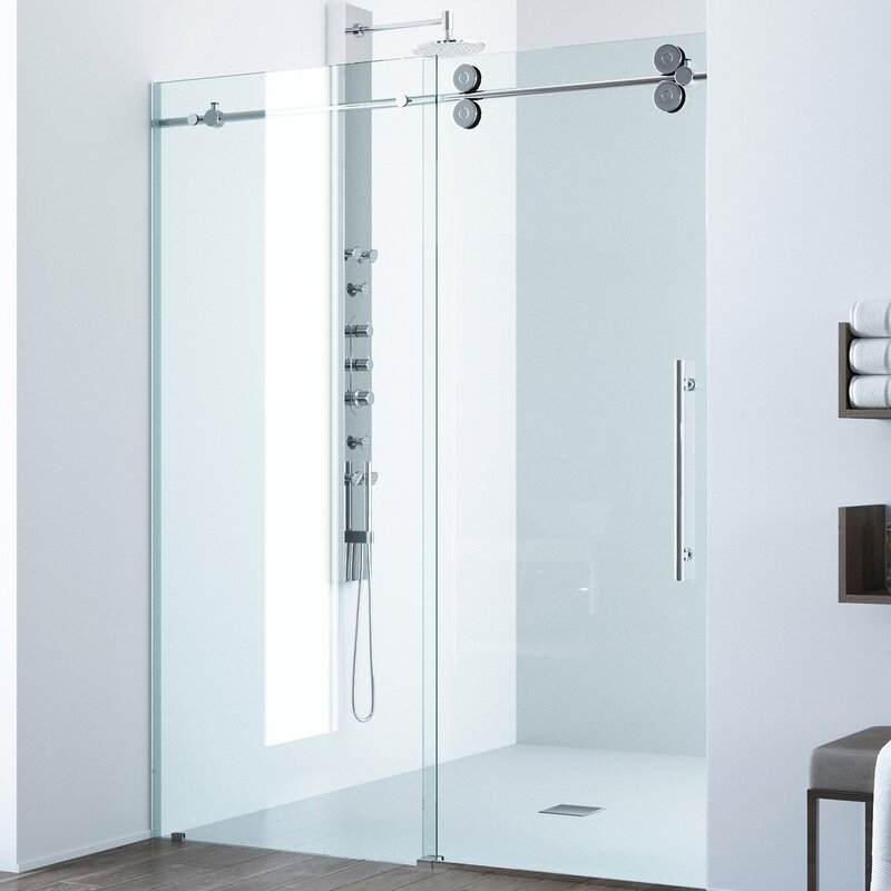 frameless single shower doors. Elan 74\ Frameless Single Shower Doors E