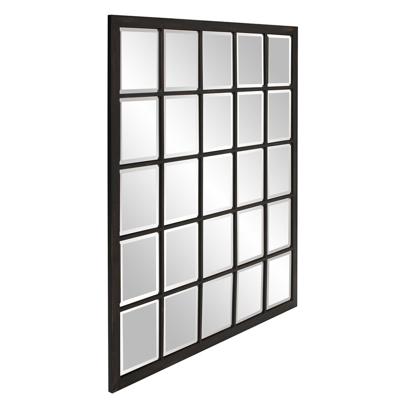 Rectangle Antique Black Window Mirror Amp Reviews Birch Lane