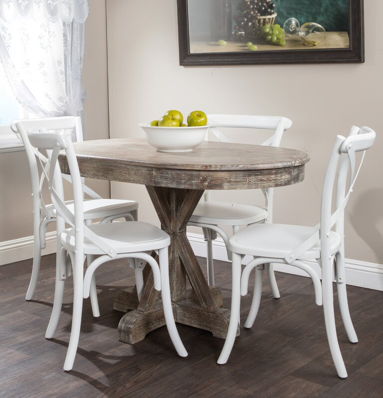 Lark Manor Thimeo Oval Dining Table & Reviews | Wayfair