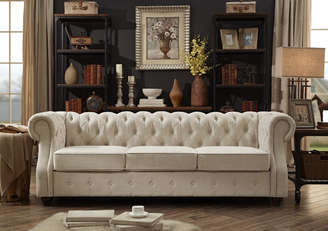 Beautiful Evart Tufted Chesterfield Sofa