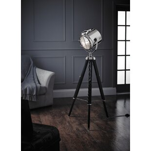 Dark wood tripod floor lamp wayfair 172cm tripod floor lamp mozeypictures Image collections