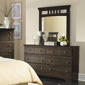 Bilney 6 Drawer Double Dresser with Mirror by World Menagerie