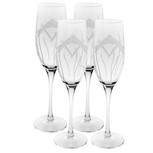 bdf18ca59be Dragonfly 8 Oz. Champagne Flute (Set of 4). By Rolf Glass