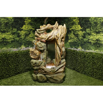 Alpine Side Tiering Rainforest Fountain with LED Light