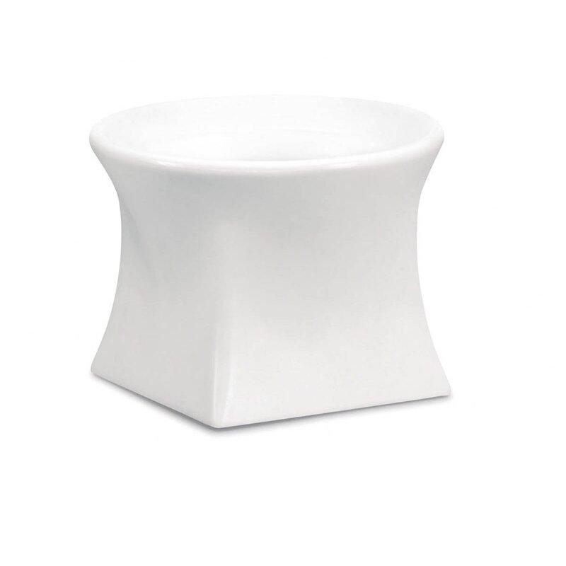 """100 Essentials Brightness Plastic Pot Planter  Color: White, Size: 15.75"""" H x 20.87"""" W x 20.87"""" D"""