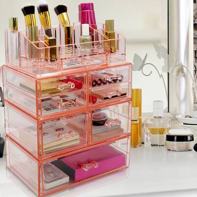 Evins Storage Case Set Large Display Cosmetic Organizer