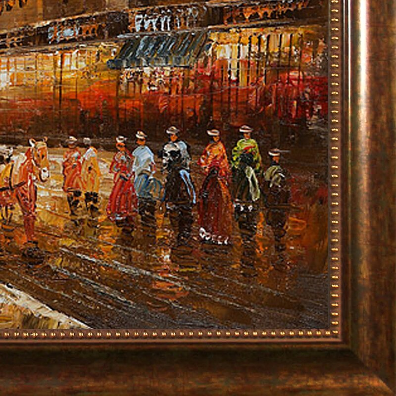 'Evenings Delight in Paris' Canvas Art by Various Artists Traditional in Verona Cafe Frame