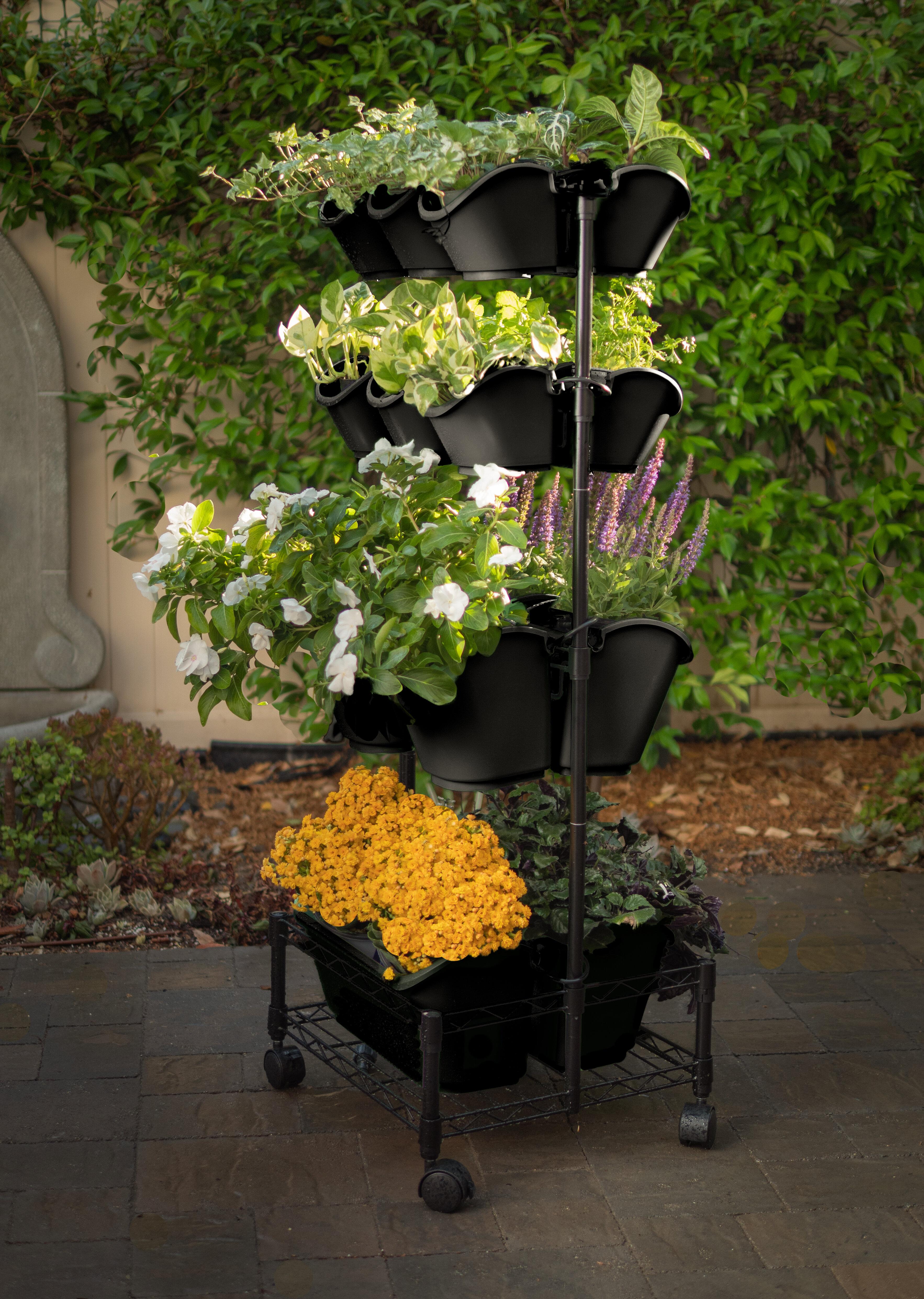 Watex Mobile Double Frame Plastic Vertical Garden Wayfair
