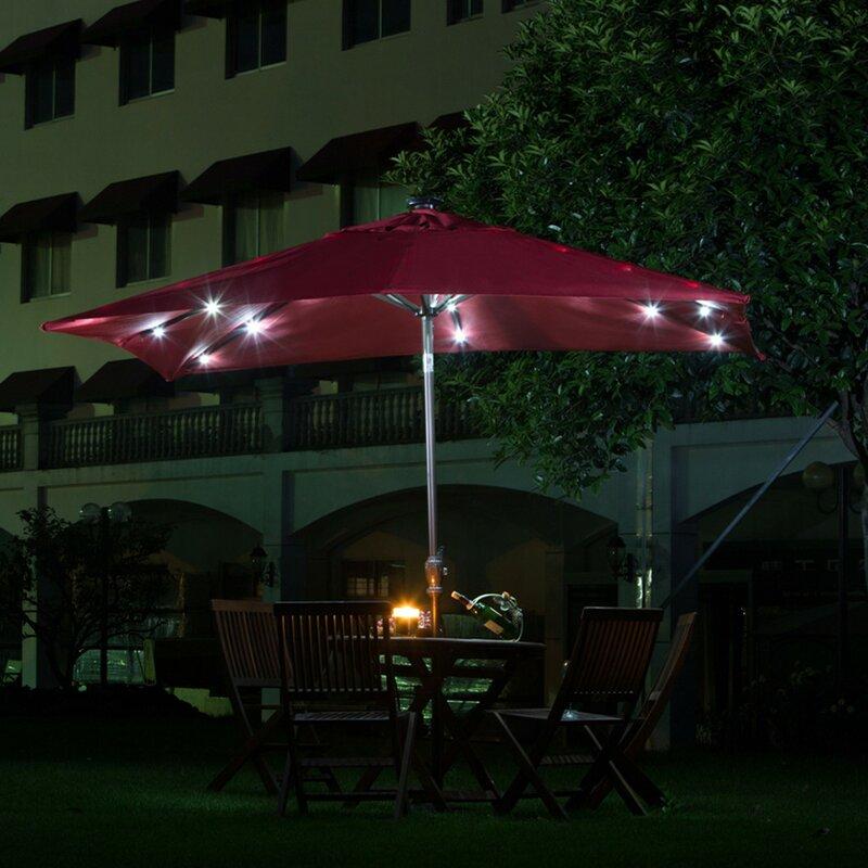 7 X 9 Rectangular Lighted Umbrella
