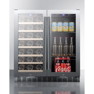 Summit 28 Bottle Dual Zone Convertible Wine Cooler
