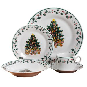 Tree 20 Piece Dinnerware Set, Service for 4