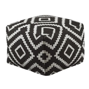 Ellinor Geometric Pouf Ottoman by Mist..
