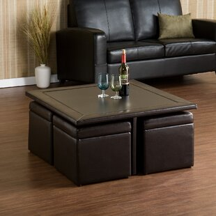 Perfect Schooner Coffee Table With Lift Top Stools